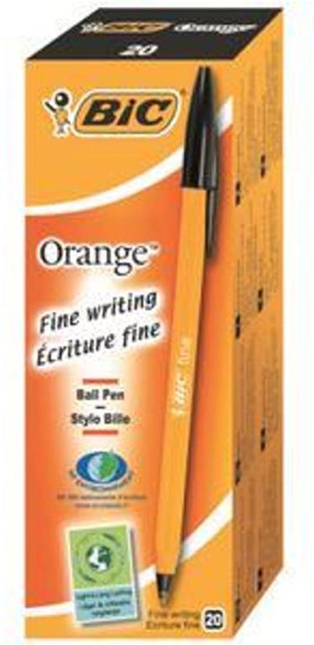 Bic Orange Ball Pen 0.8mm Tip 0.2mm Line Black Ref 1199110114 [Pack 20]