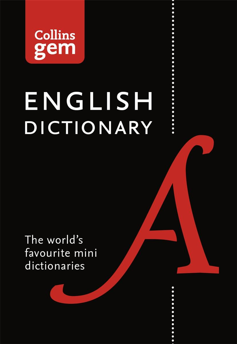 Collins Gem English Dictionary with Colour Headwords in Vinyl Cover Ref 9780008141677
