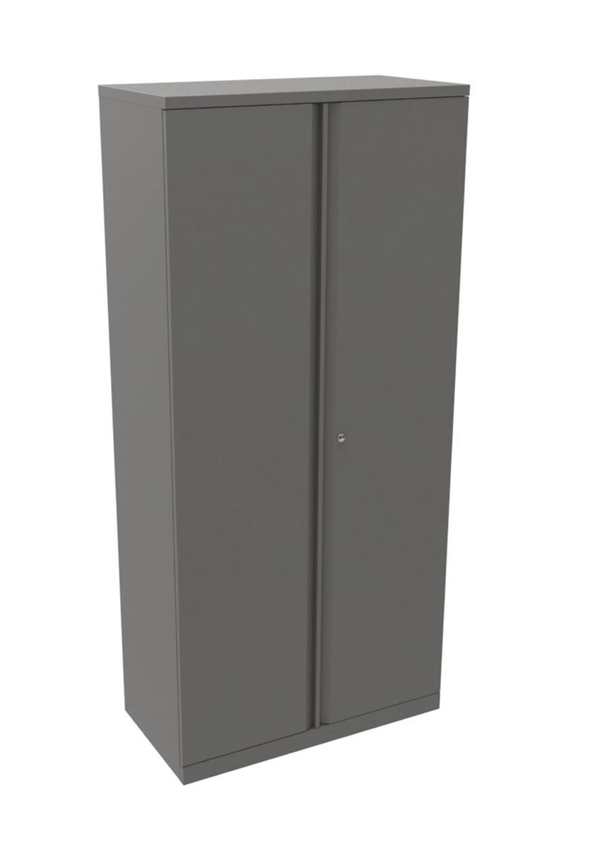 Image for Bisley Cupboard Steel High 2-Door W914xD470xH1970-1985mm Grey Ref YECB0919