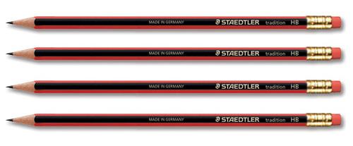 Image for Staedtler 110 Tradition Pencil Cedar Wood with Eraser HB Ref 112HBRT [Pack 12]