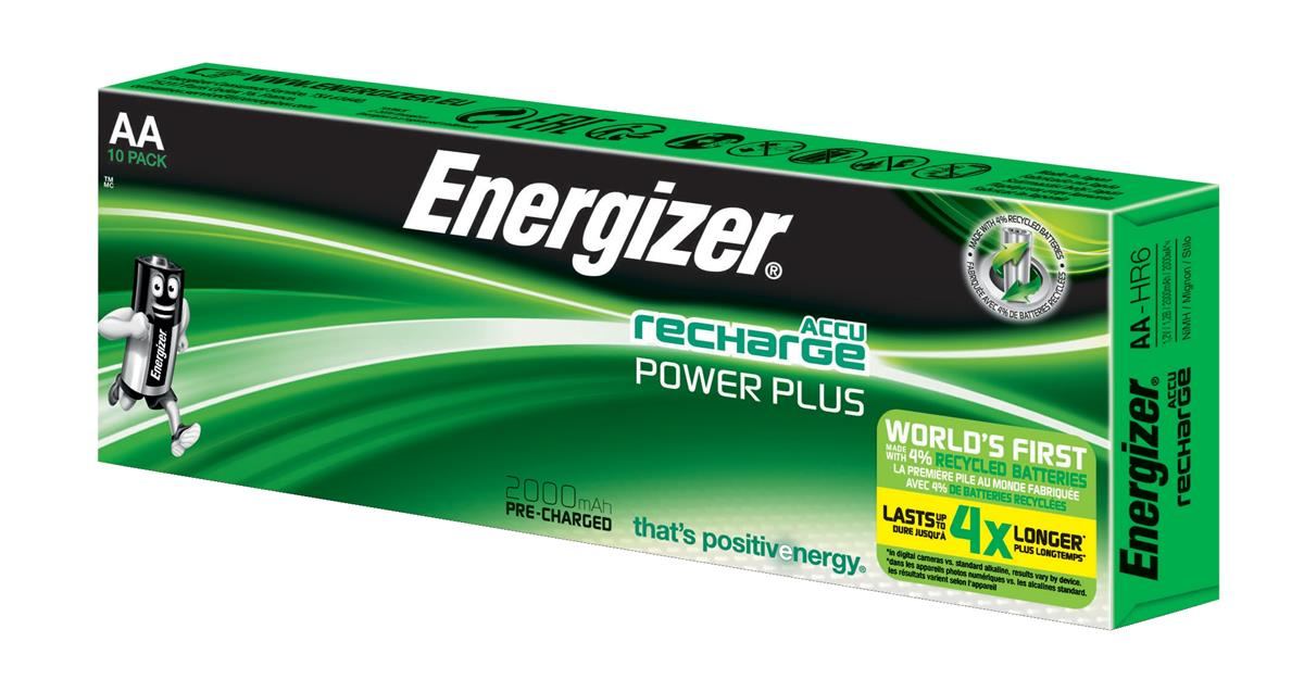 Image for Energizer Battery Rechargeable NiMH Capacity 2000mAh HR6 1.2V AA Ref E300626800 [Pack 10]