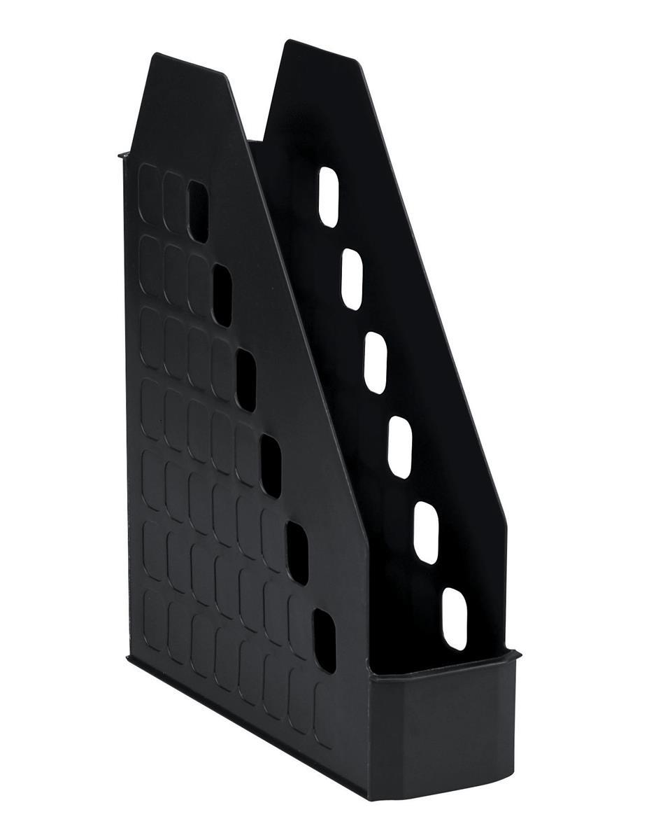Image for Avery Basics Magazine Rack Low Front Design W78xD246xH310mm Black Ref 1135BLK