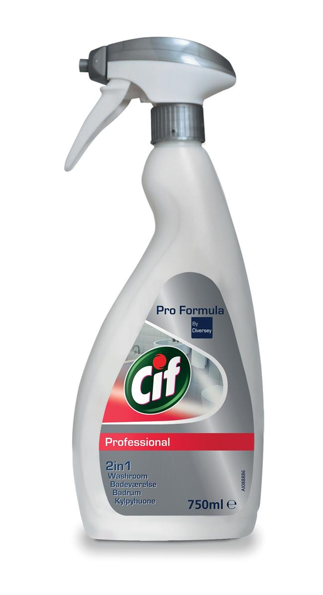 Cif Professional Washroom 2 in 1 Cleaner 750ml Ref 7517907