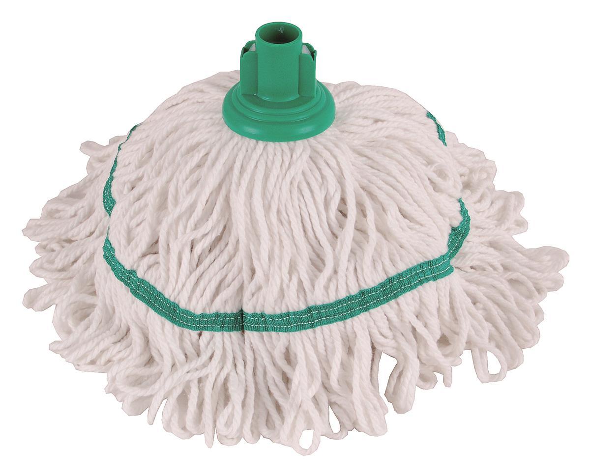 Robert Scott & Sons Hygiemix T1 Socket Mop Cotton & Synthetic Colour-coded 250g Green Ref 103064GREEN