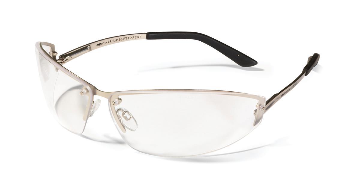 JSP Expert Safety Spectacles Adjustable Metal Frame Clear Ref 1EXP23C