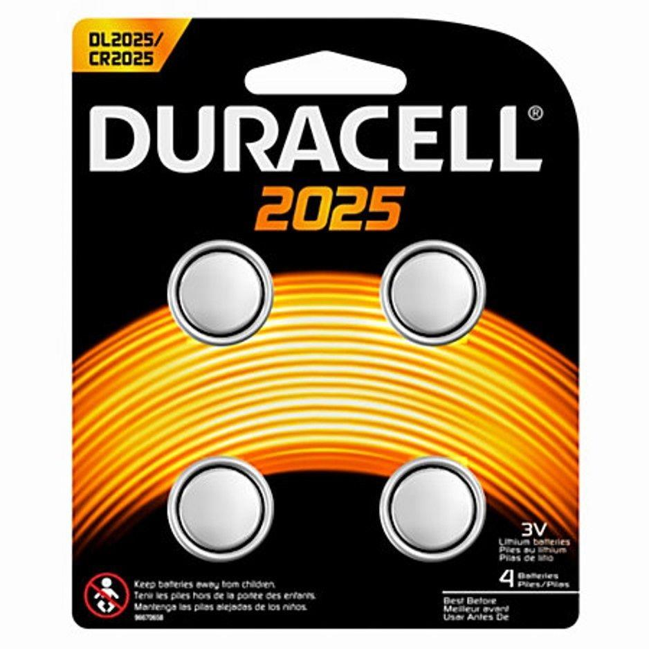 Image for Duracell CR2025 Lithium coin Battery Silver Ref 81575810 [Pack 4]