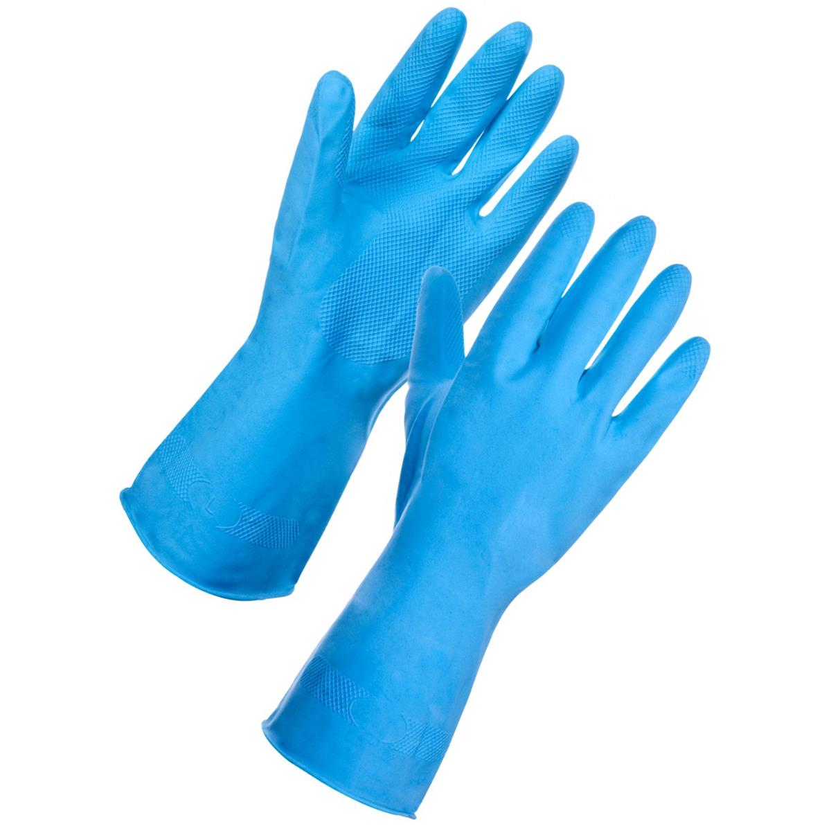 Supertouch Household Latex Gloves Medium Blue Ref 13312 [Pair]