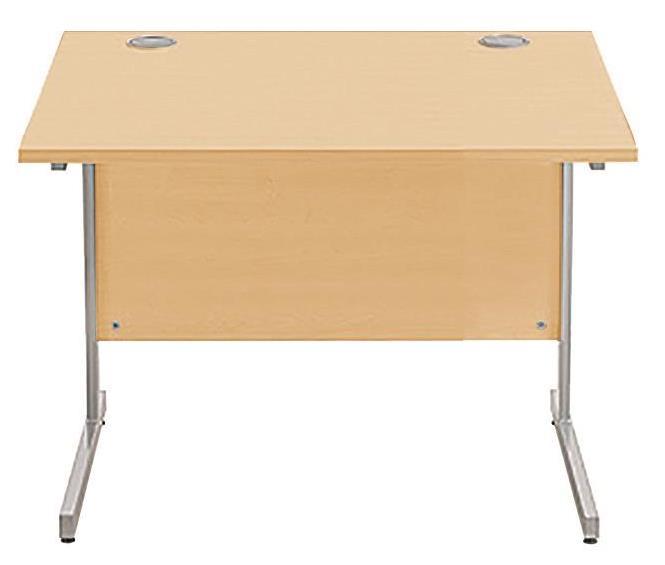 Image for Sonix Cantilever Desk Rectangular Silver Cantilever Leg 800mm Acer Maple