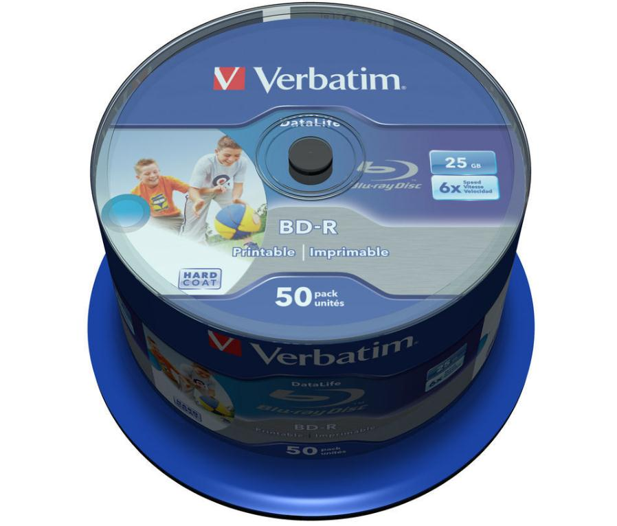 Image for Verbatim BD-R Recordable Blu-Ray Discs Inkjet Printable 25GB Ref 43812 [Pack 50]