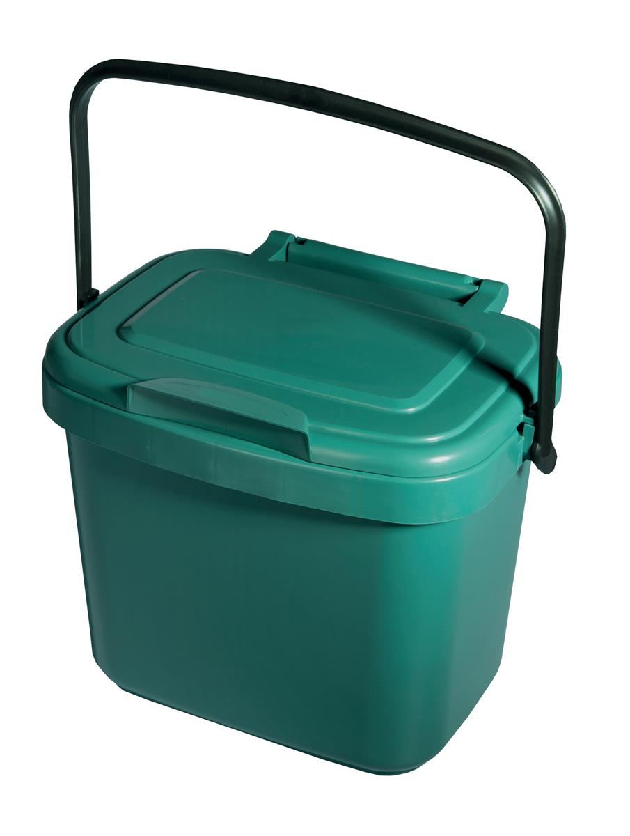 Image for Addis Kitchen Caddy Locking Lid 5 Litre Green Ref 506996