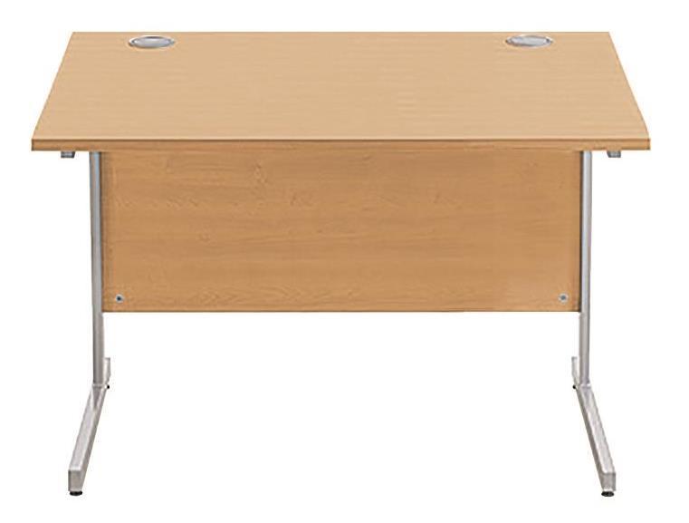 Image for Sonix Cantilever Desk Rectangular Silver Cantilever Leg 1000mm Rich Beech