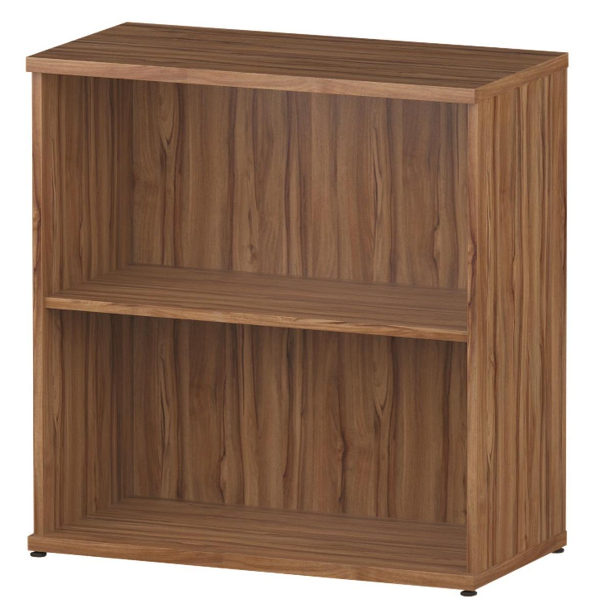 Trexus Low Bookcase W800xH800mm 1 Shelf Walnut