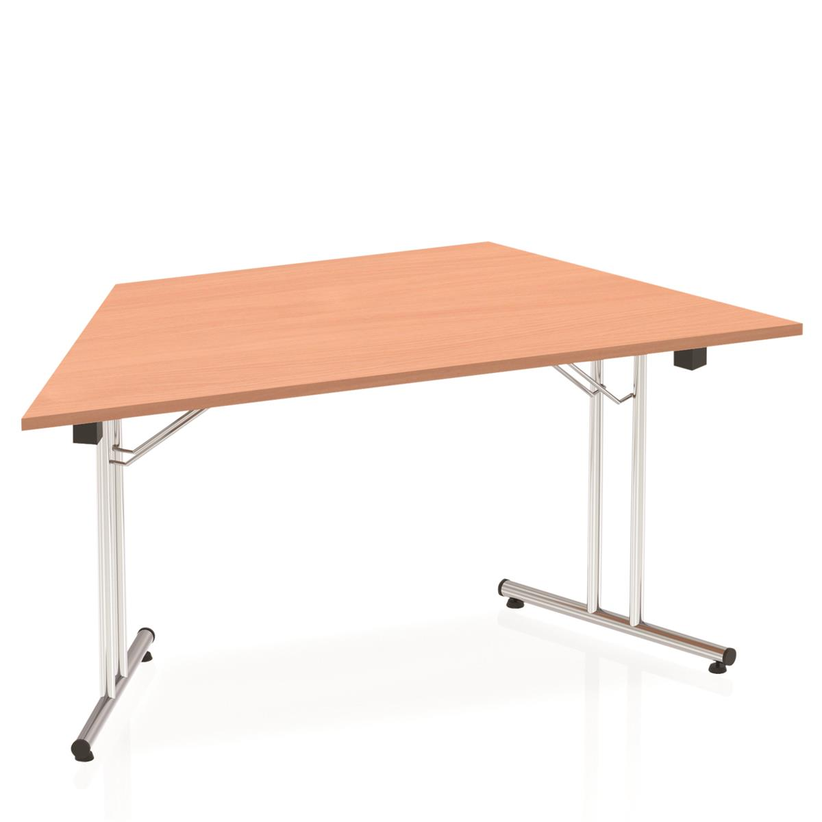 Image for Sonix Trapezium Folding Table I-Frame Leg 1600mm Beech