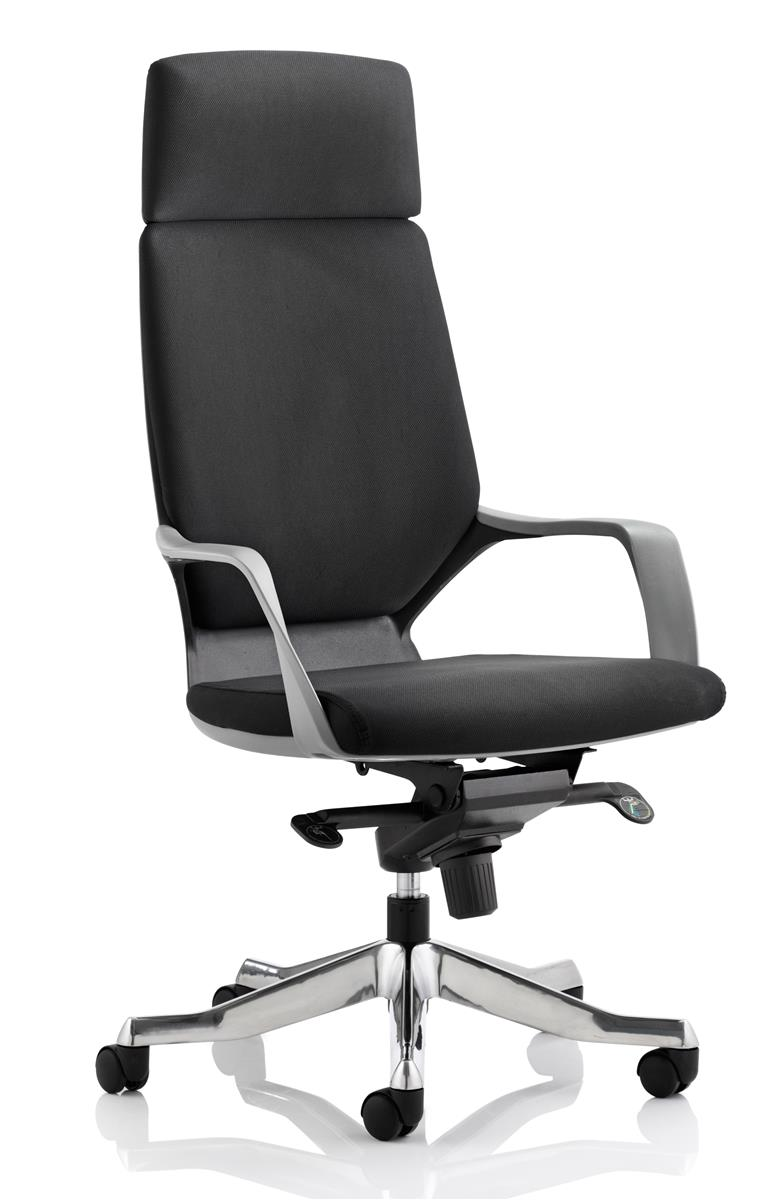 Image for Adroit Executive Chair Static Arms Flat Packed Fabric Black
