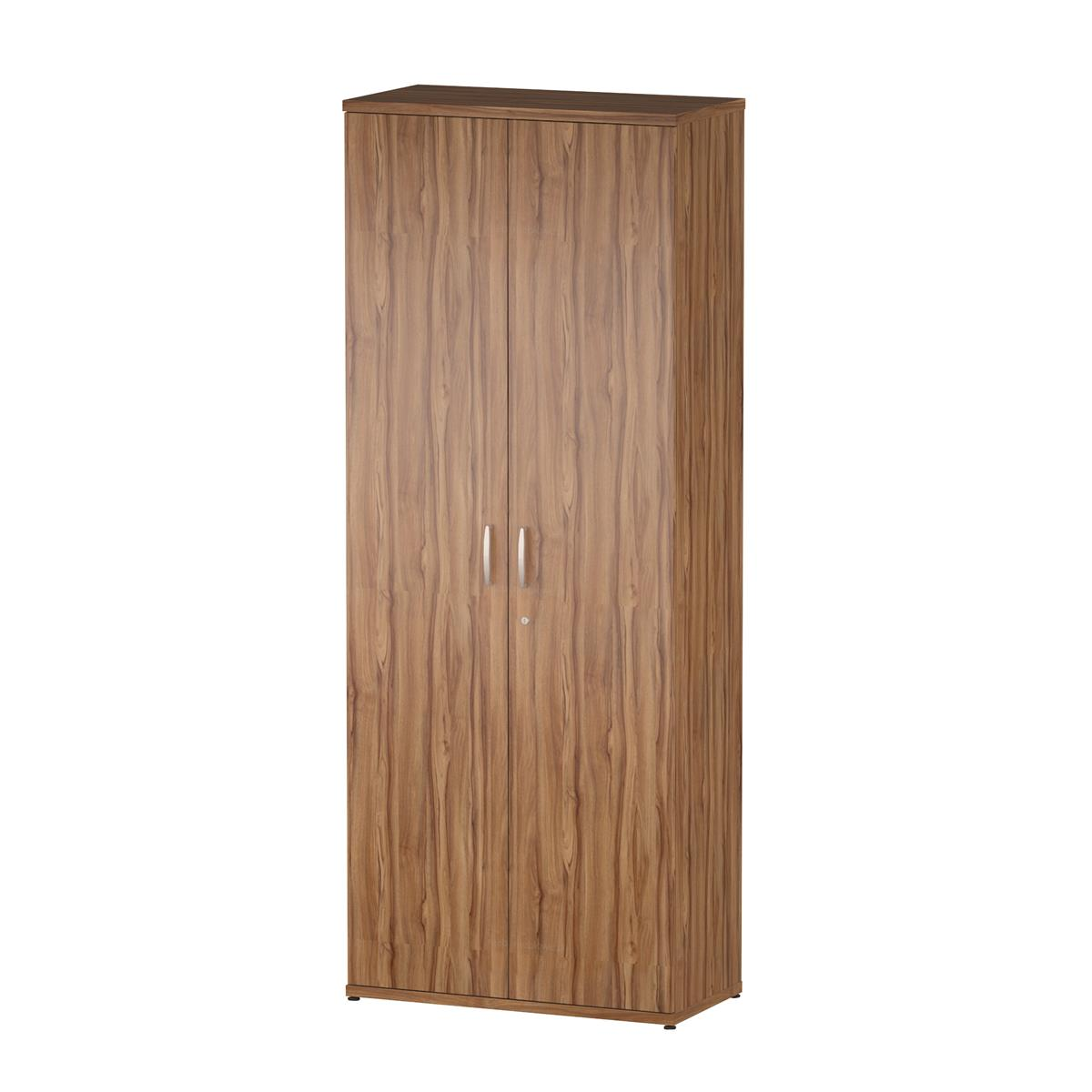 Trexus Office Cupboard 800mm 4 Shelves Walnut