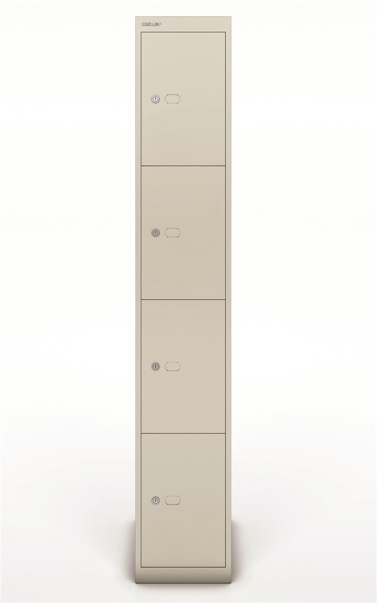 Image for Bisley Steel Locker 457 Four Door Goose Grey
