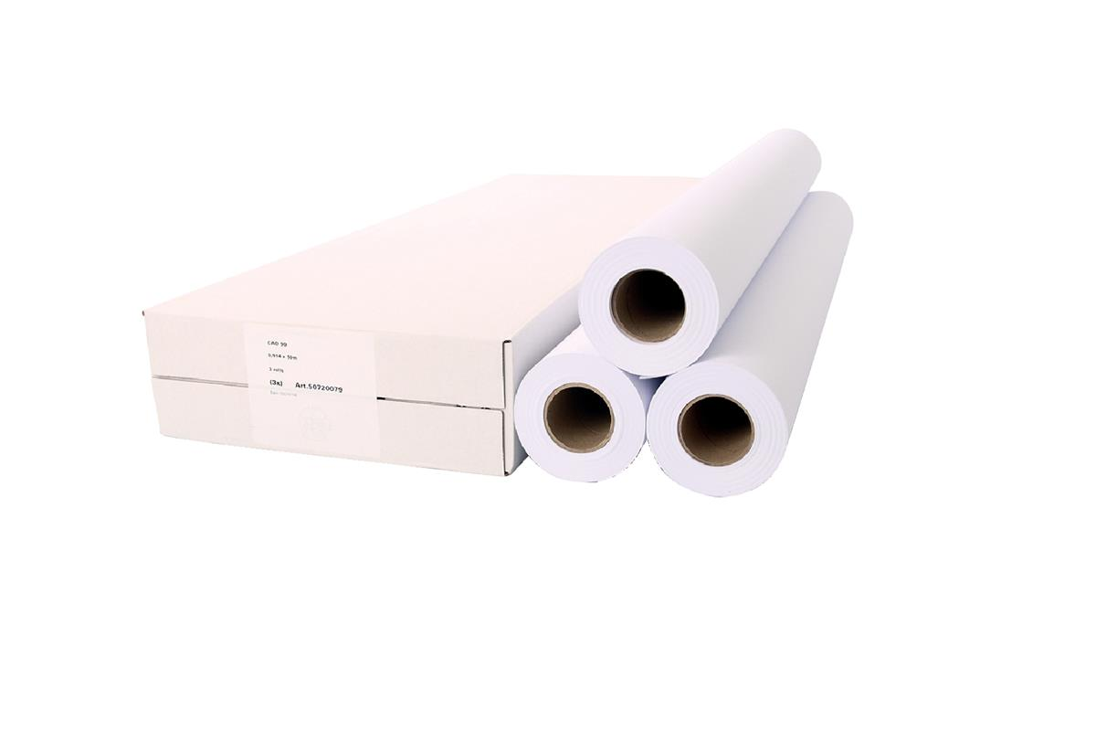 Image for Plotting Roll 914mmx50m 90gsm Ref 97003427 [Pack 3]
