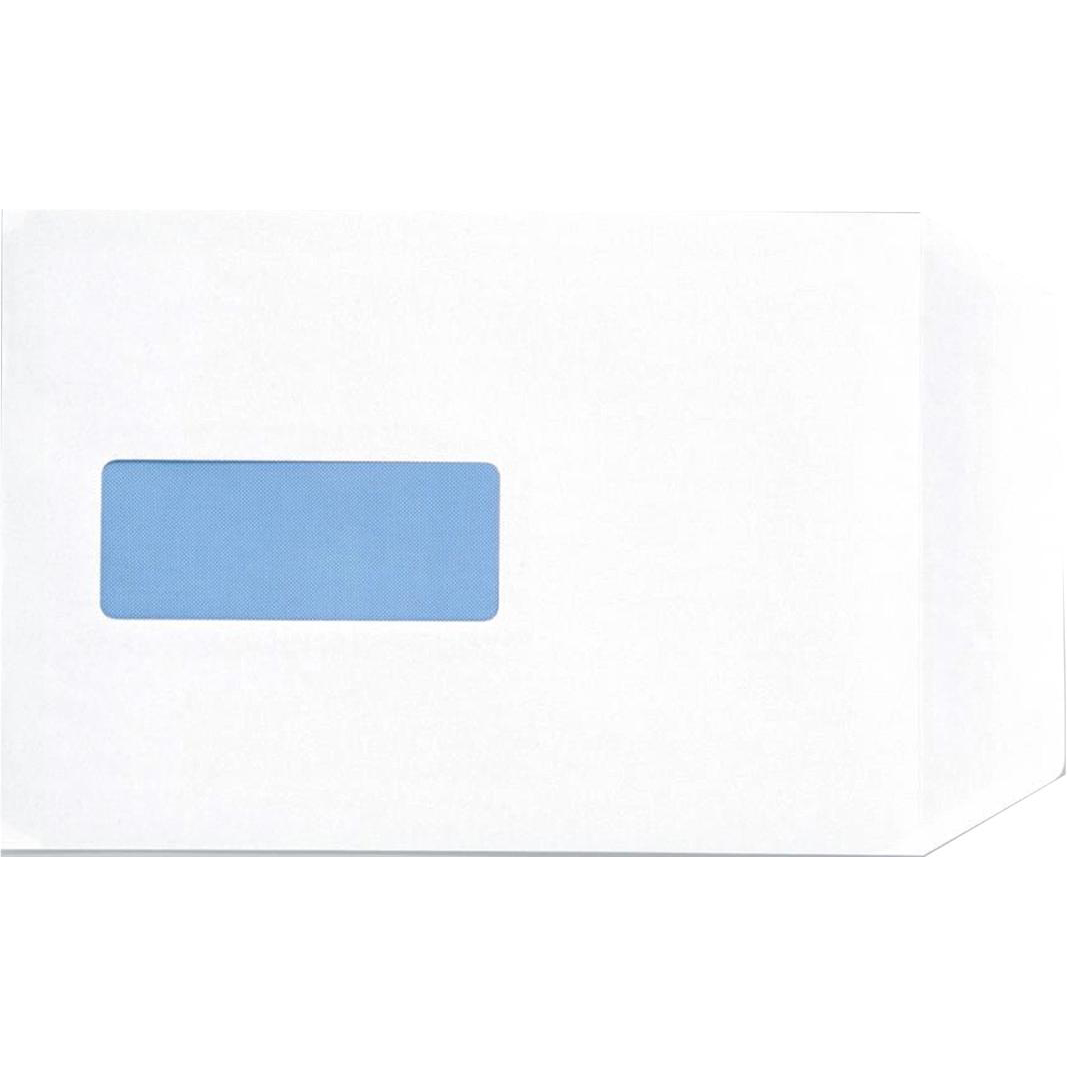 C5 5 Star Office Envelopes PEFC Pocket Peel & Seal Window 100gsm C5 229x162mm White Pack 500