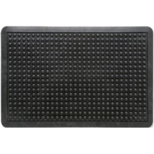 Indoor Doortex Anti-fatiguemat Mat Rubber Bevelled Edge Bubble Texture 610x910mm Black Ref FCAF6191