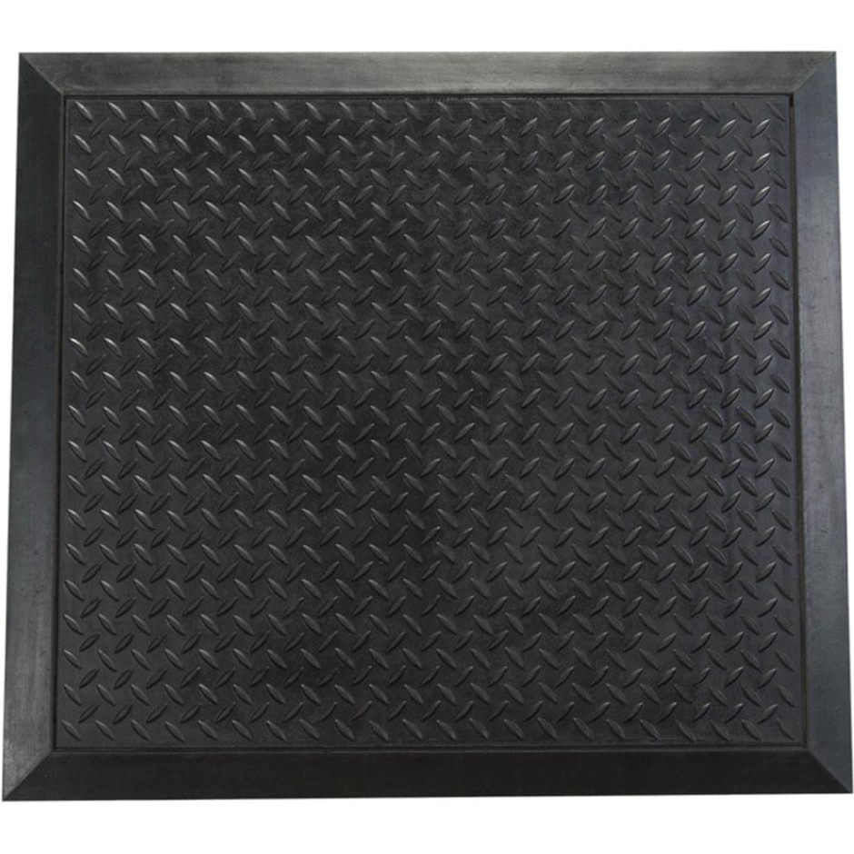 Doortex Anti-fatiguemat Mat Rubber Bevelled Edge Ripple Texture 710x780mm Black Ref FCAF7178