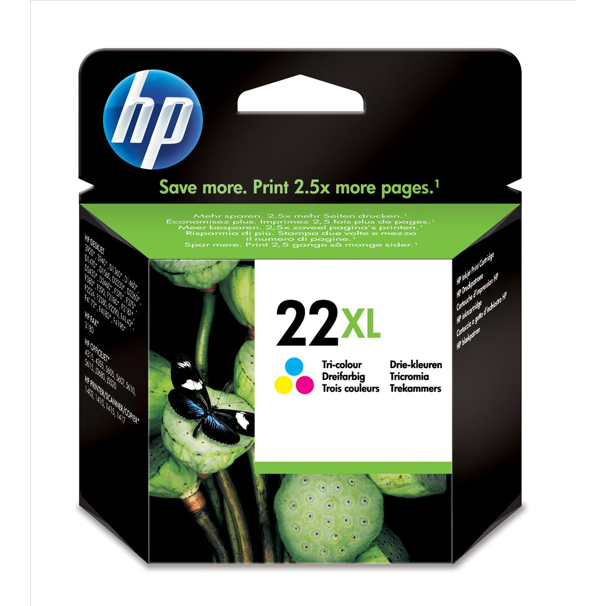 Hewlett Packard [HP] No. 22XL Inkjet Cartridge Page Life 415pp 11ml Colour Ref C9352CE