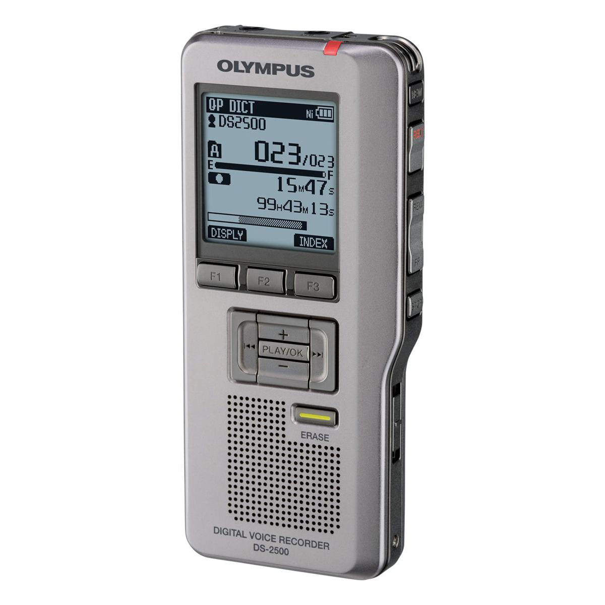 Olympus DS-2500 Digital Dictation Machine DSS Pro Format USB with SD Card 2GB Records 303Hrs Ref DS2500