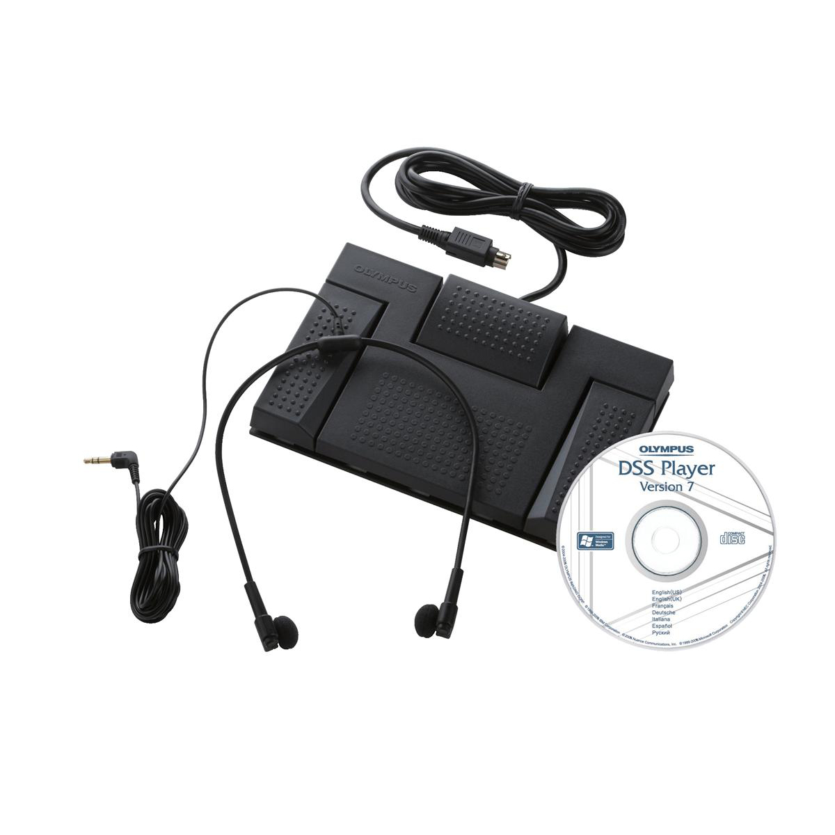 Image for Olympus AS2400 Digital Transcription Kit RS-28 Footswitch E-102 Headset and DSS Software Ref N2275726