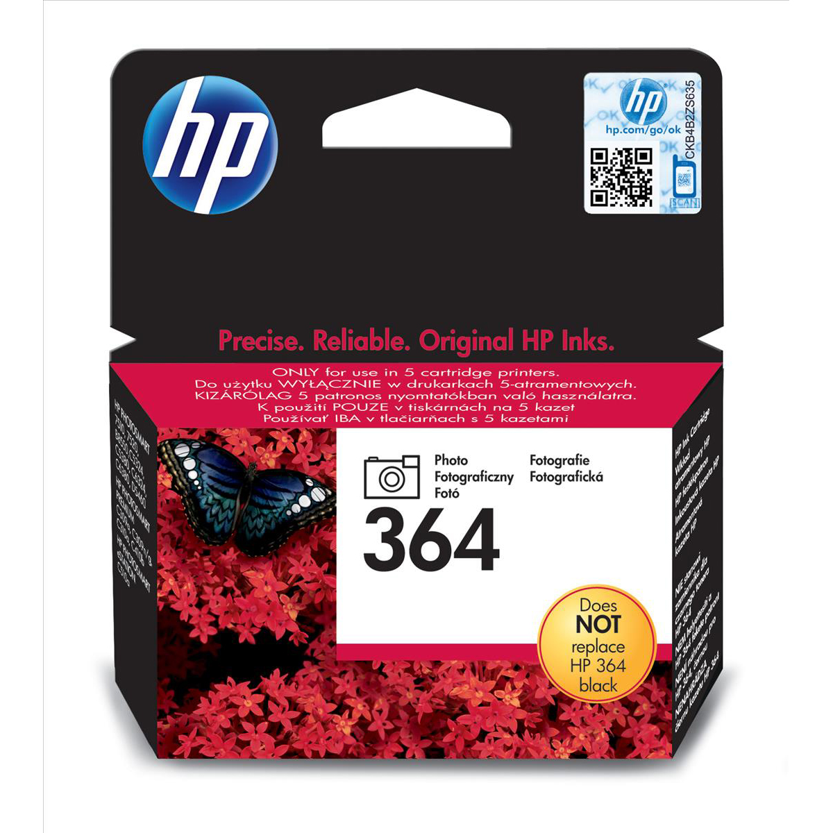 Hewlett Packard [HP] 364 Inkjet Cartridge Page Life 130 Photos 3ml Photo Black Ref CB317EE