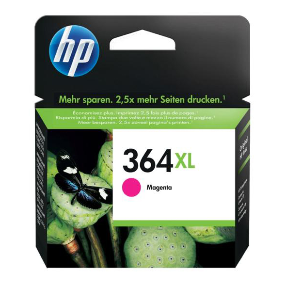 Hewlett Packard [HP] No. 364XL Inkjet Cartridge Page Life 750pp Magenta Ref CB324EE #ABB