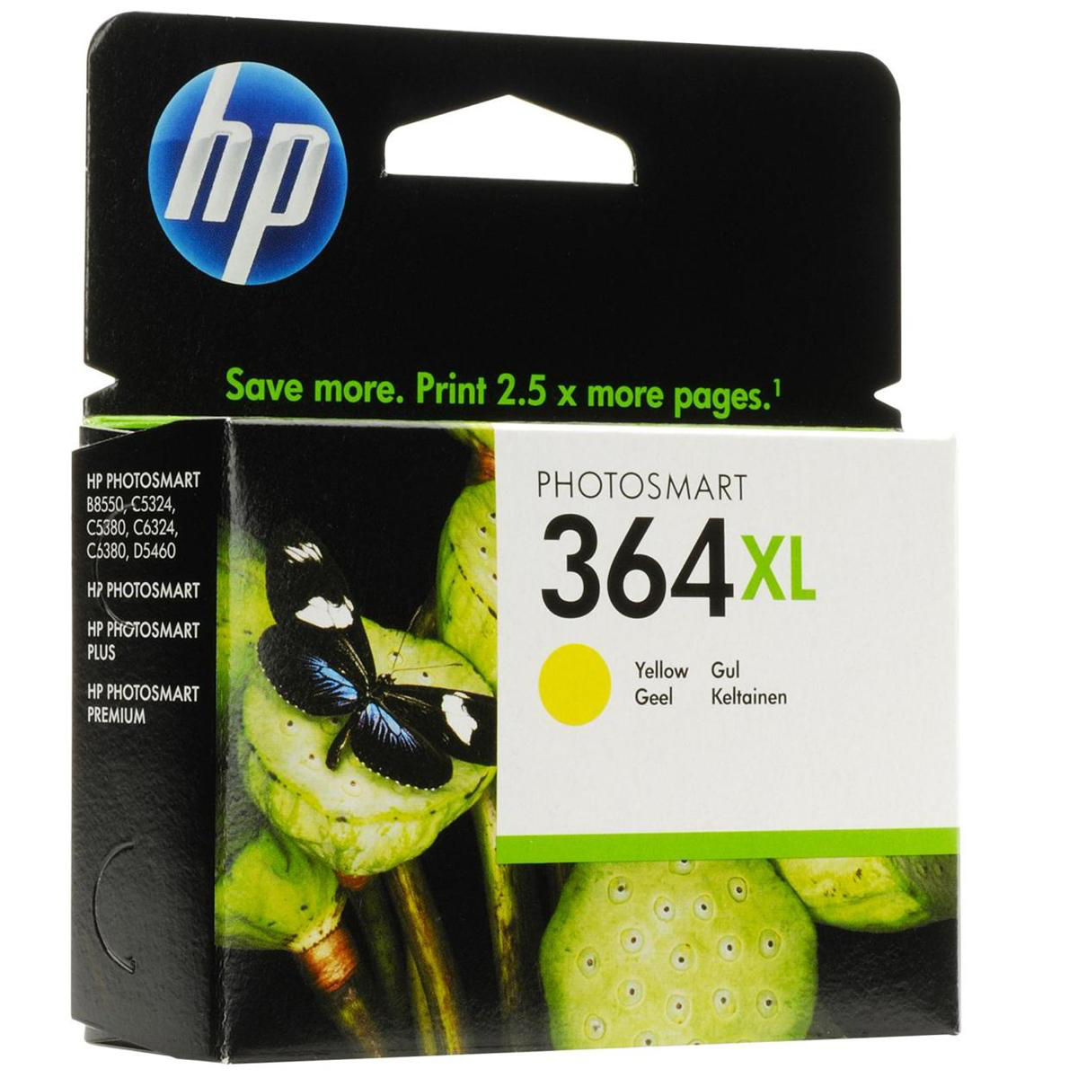 Hewlett Packard HP No.364XL Inkjet Cartridge High Yield Page Life 750pp 6ml Yellow Ref CB325EE