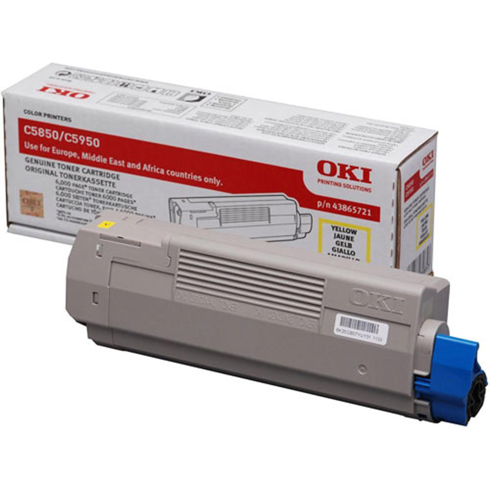 OKI Laser Toner Cartridge Page Life 6000pp Yellow Ref 43865721