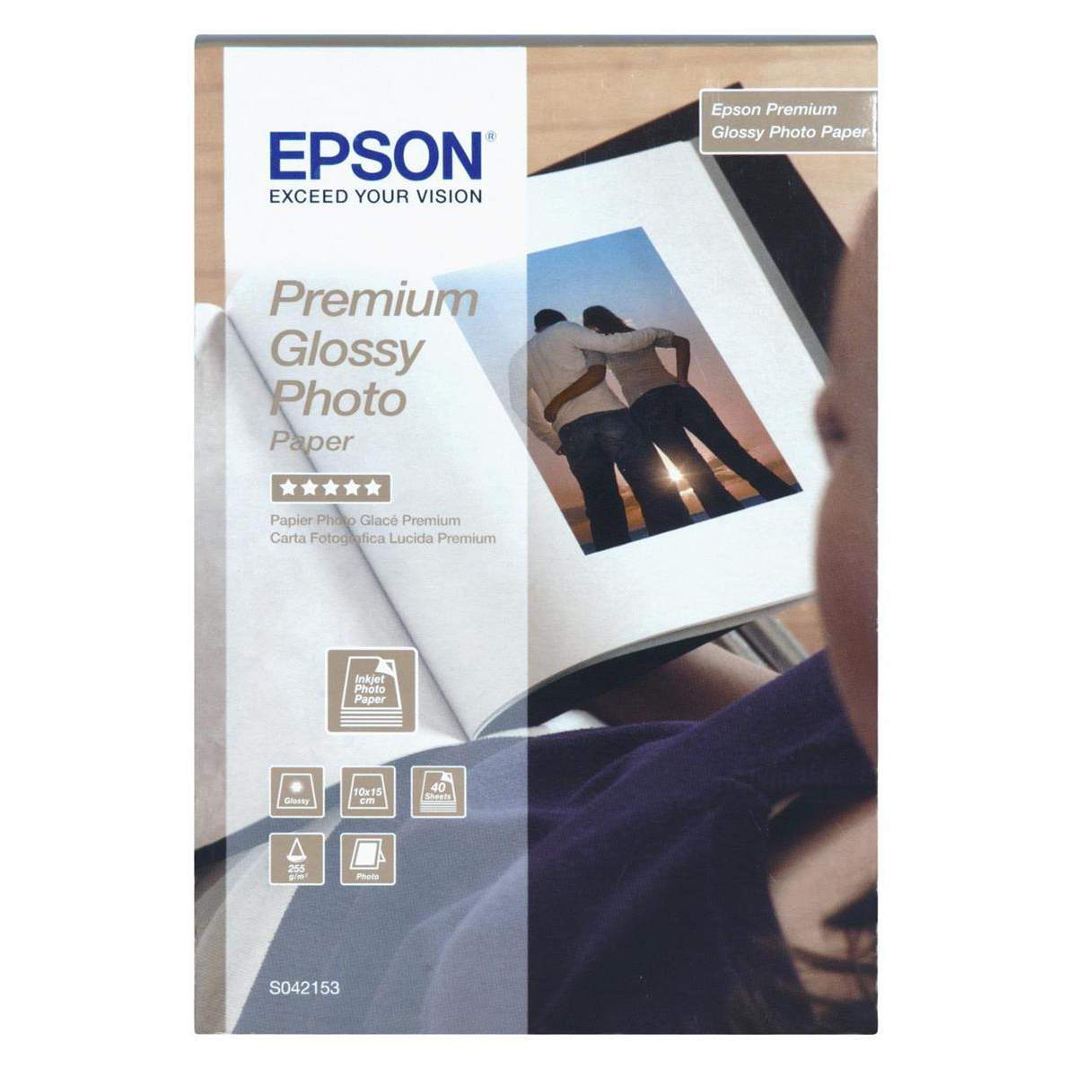 Photo Paper Epson Photo Paper Premium Glossy 255gsm 100x150mm Ref C13S042153 40 Sheets