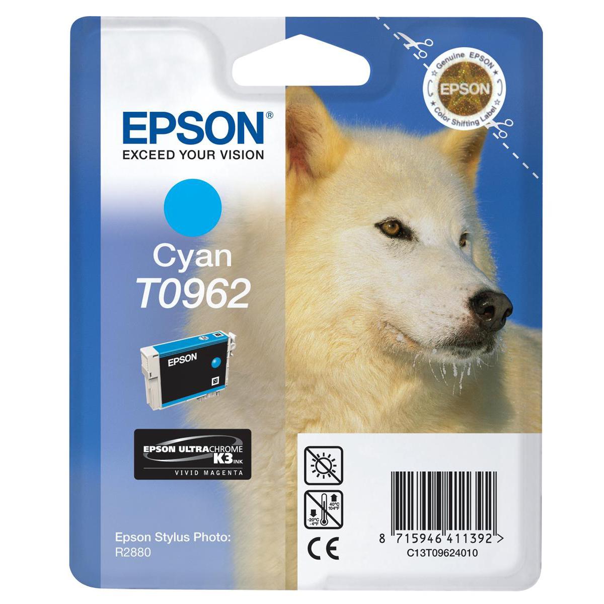 Epson T0962 Inkjet Cartridge UltraChrome K3 Husky Page Life 1505pp Cyan Ref C13T09624010