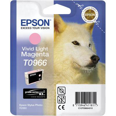 Epson T0966 Inkjet Cartridge Husky Page Life 835pp 11.4ml Light Magenta Ref C13T09664010