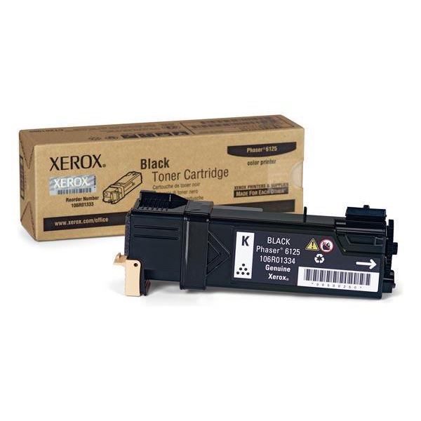 Xerox Phaser 6125 Laser Toner Cartridge Page Life 2000pp Black Ref 106R01334