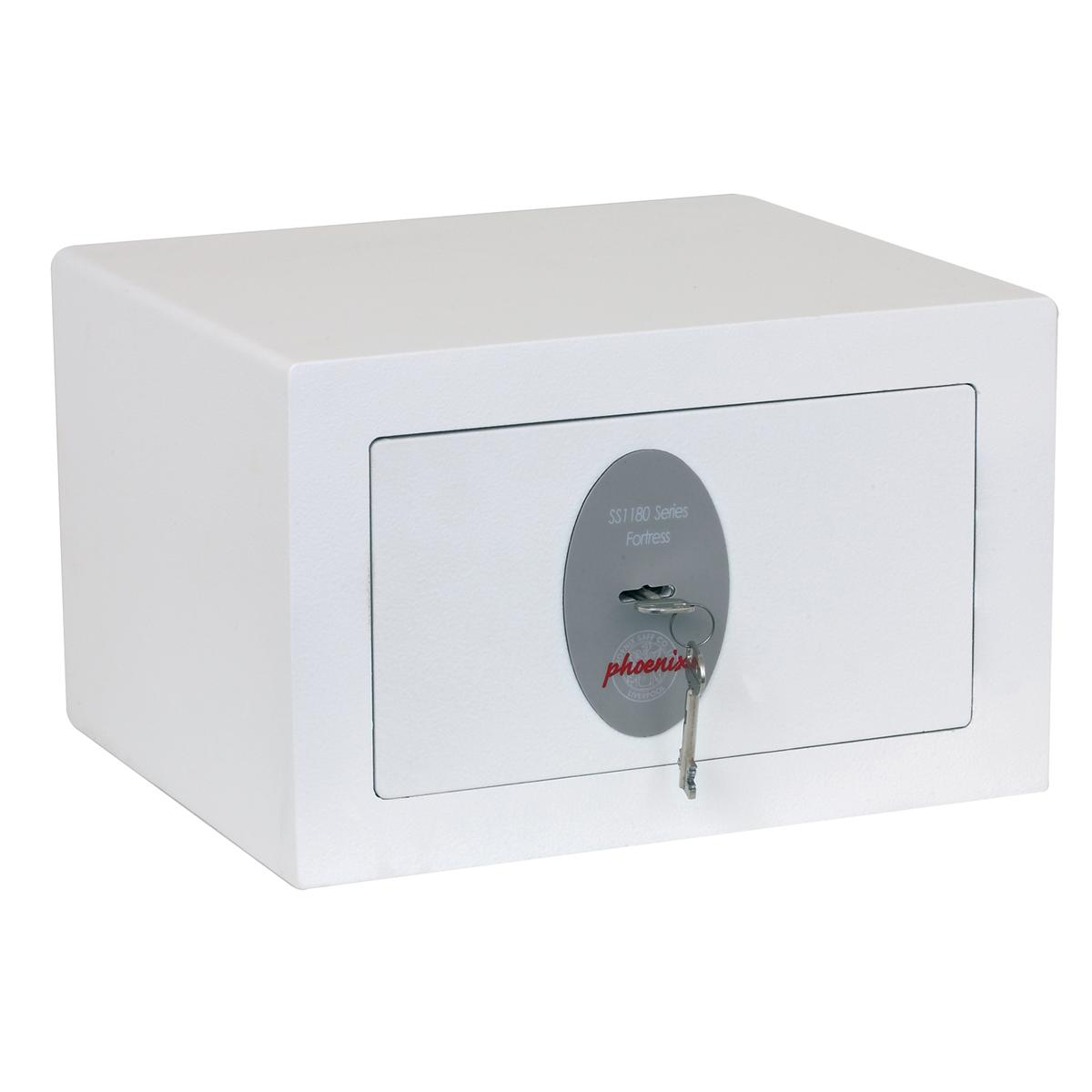 Safes Phoenix Fortress High Security Safe Key Lock 7L Capacity 15kg W350xD300xH220MM Ref SS1181K