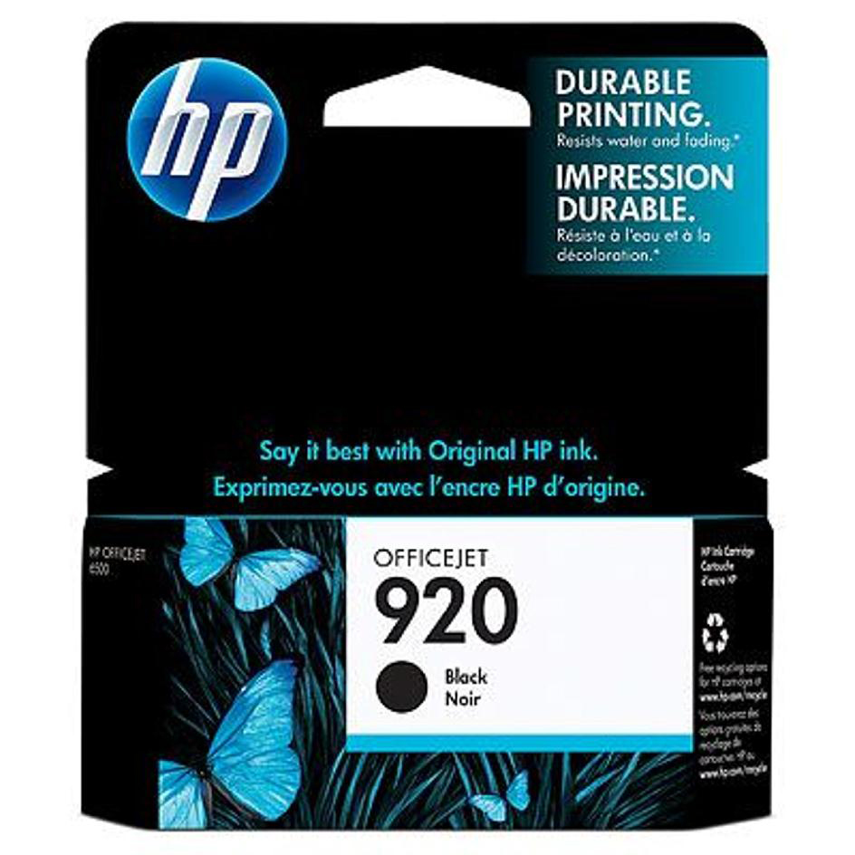 Hewlett Packard [HP] No. 920 Inkjet Cartridge Page Life 420pp Black Ref CD971AE #BGX
