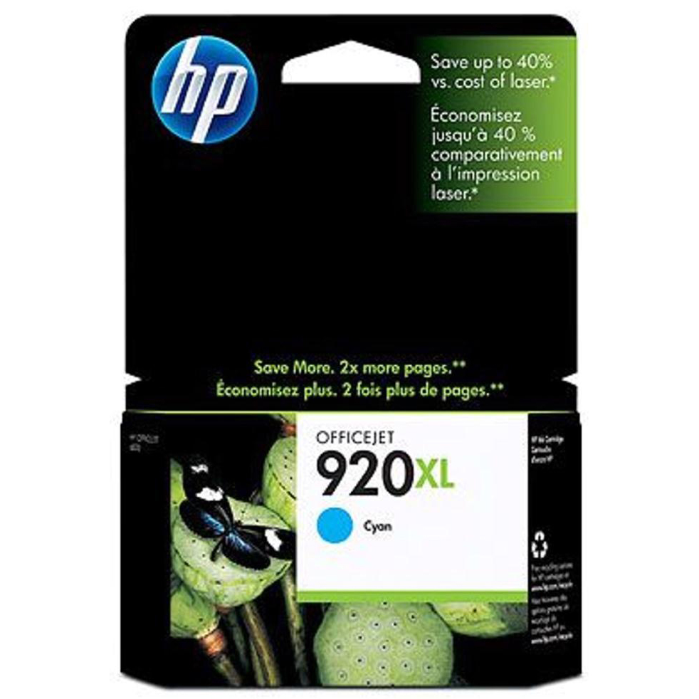 Hewlett Packard HP No.920XL Inkjet Cartridge High Yield Page Life 700pp 6ml Cyan Ref CD972AE