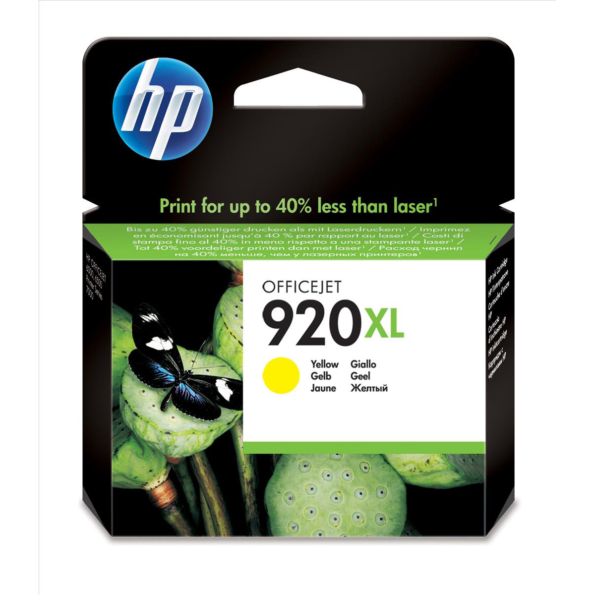 Hewlett Packard [HP] No. 920XL Inkjet Cartridge Page Life 700pp Yellow Ref CD974AE#BGX