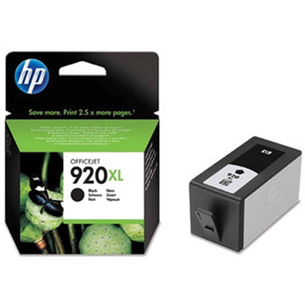 Hewlett Packard [HP] No.920XL Inkjet Cartridge High Yield Page Life 1200pp 49ml Black Ref CD975AE