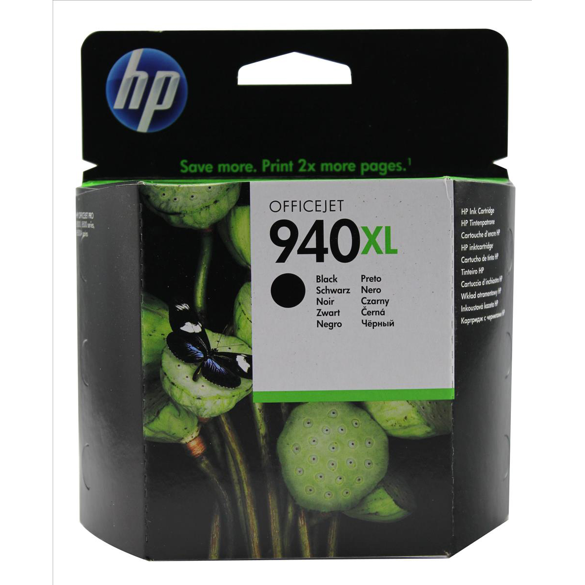 Hewlett Packard HP No.940XL Officejet Inkjet Cart High Yield Page Life 2200pp 49ml Black Ref C4906AE