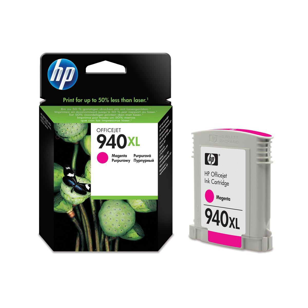 Hewlett Packard [HP] No.940XL Inkjet Cartridge High Yield Page Life 1400pp 16ml Magenta Ref C4908AE