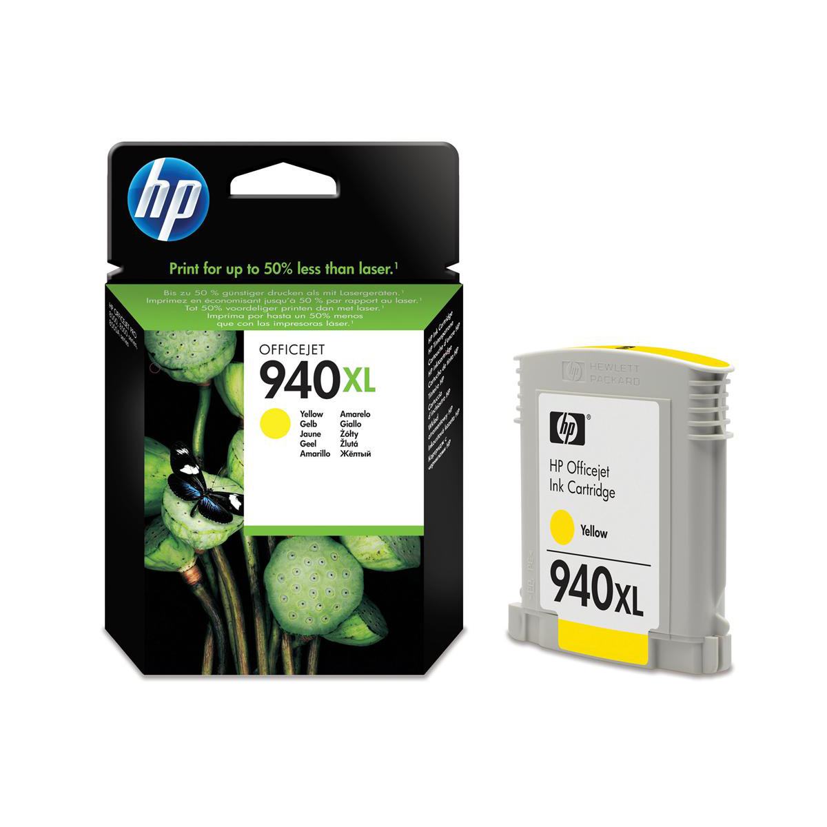 Hewlett Packard [HP] No.940XL Officejet Inkjet Cartridge HY Page Life 1400pp 16ml Yellow Ref C4909AE