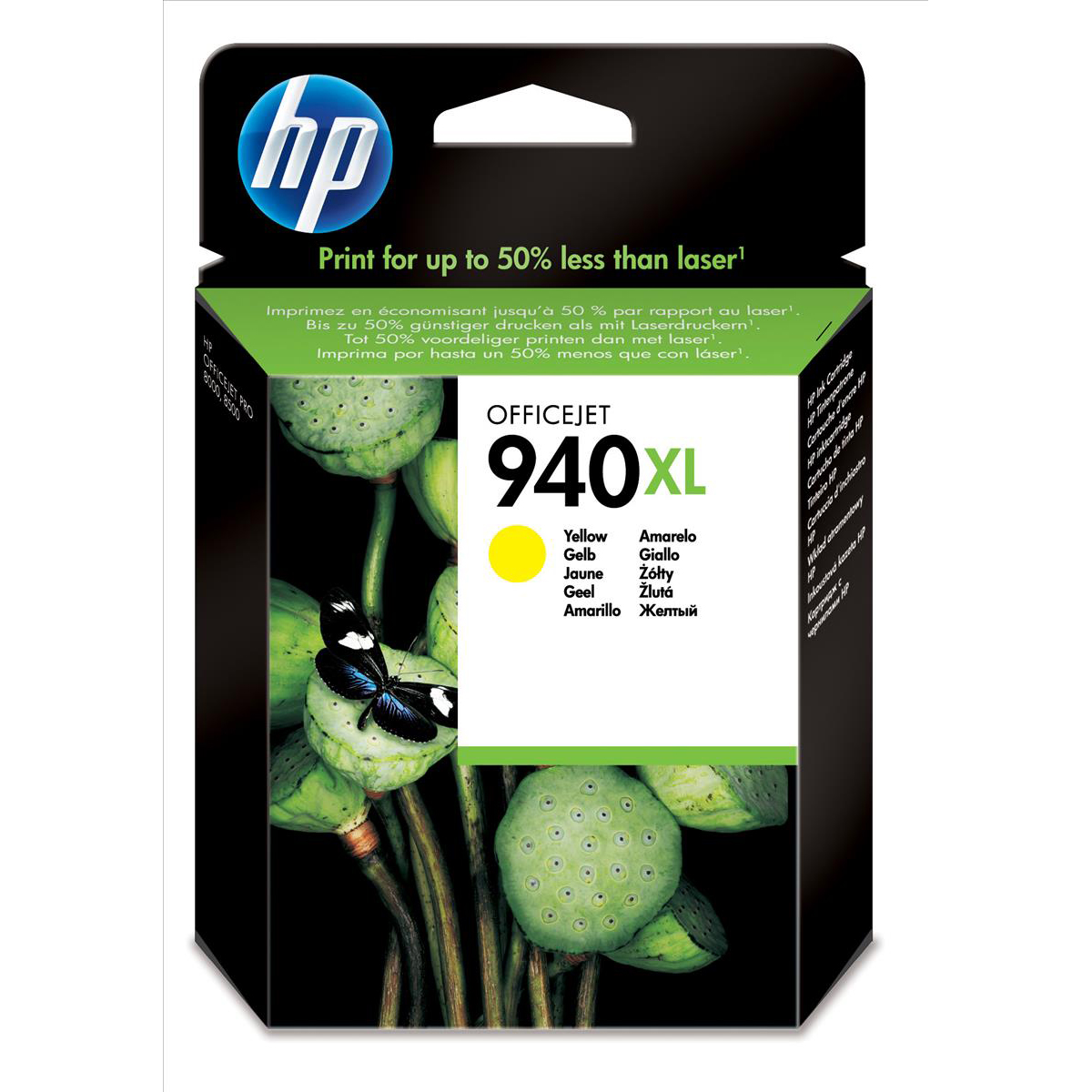 Hewlett Packard [HP] No.940XL Officejet Inkjet Cartridge HY Page Life 1400pp 16ml Yellow Ref C4909AE