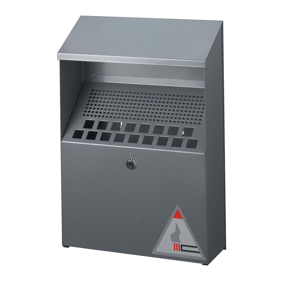Ash Bins Durable Ash Bin Wall-mounted Capacity of 4 Litres 310x107x450mm Silver Ref 3334/23