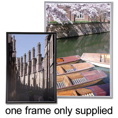 5 Star Facilities Snap Photo Frame with Non-glass Polystyrene Front Back-loading A3 307x17x430mm Silver