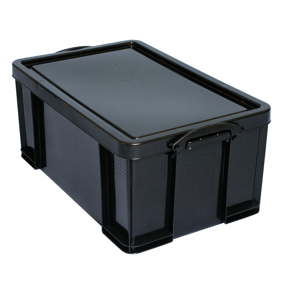Tool Boxes Really Useful Storage Box Plastic Recycled Robust Stackable 64 Litre W440xD710xH310mm Black Ref 64L