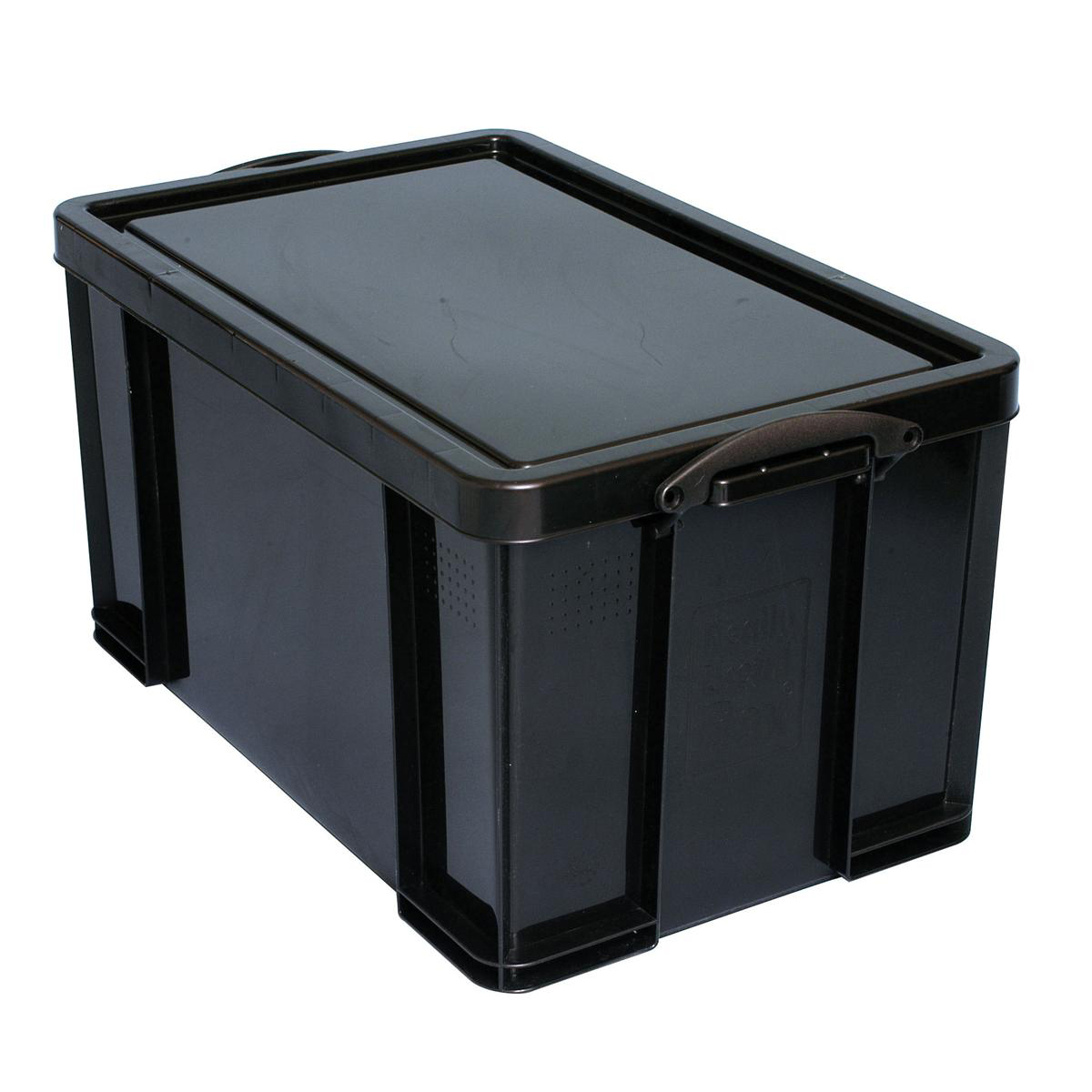 Tool Boxes Really Useful Storage Box Plastic Recycled Robust Stackable 84 Litre W444xD710xH380mm Black Ref 84L