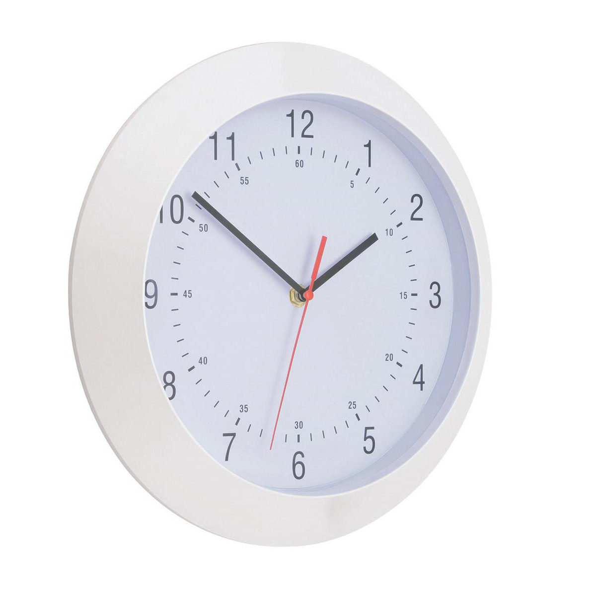 Image for 5 Star Facilities Wall Clock With Coloured Case Diameter 300mm White