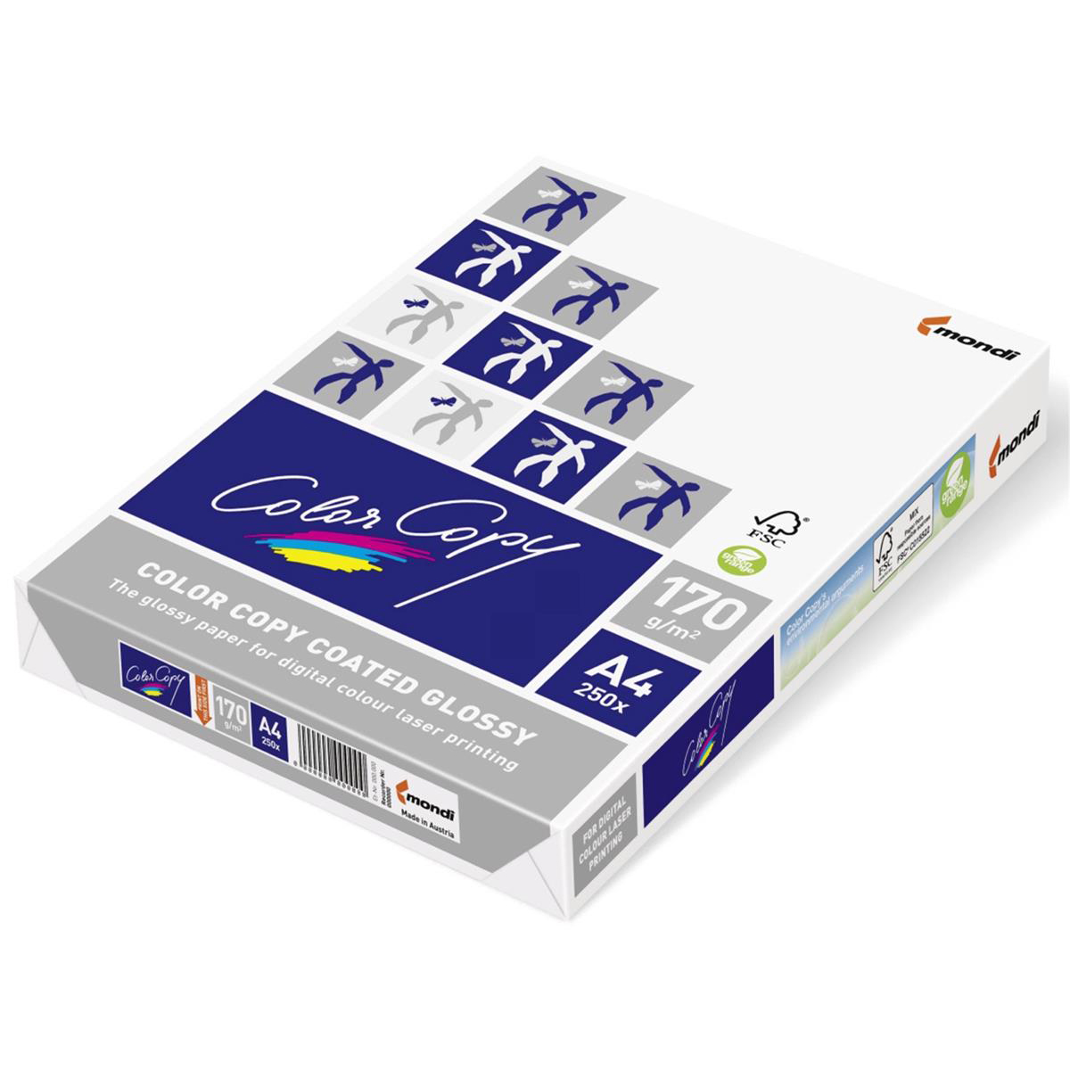 Card (160g+) Color Copy Card Premium Coated Glossy A4 170gsm FSC White Ref CCG0170 250 Sheets